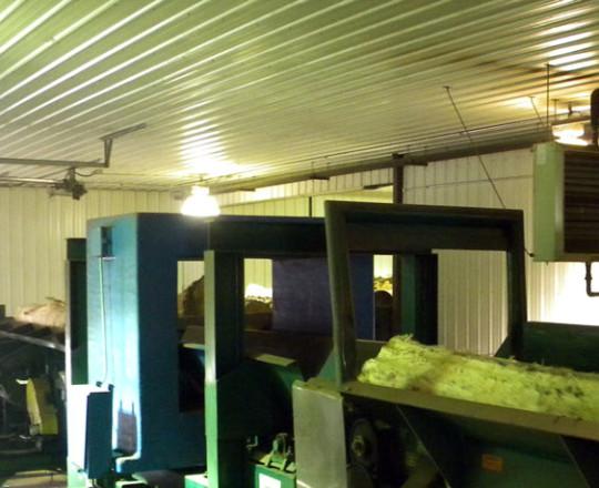 Logs in metal detector.
