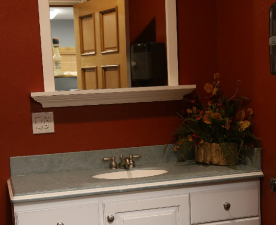 Office Showroom Bath | Hard Maple  | Artic White