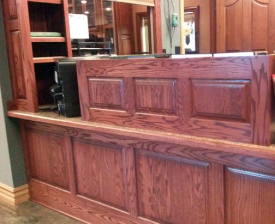 Office Showroom Office | Red Oak | Cordovan Stain