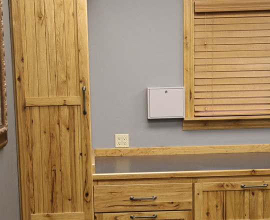 Office Showroom Office | Rustic Hickory | Natural Stain
