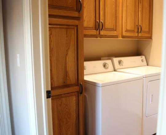 Apartment Showroom Laundry | Rustic Hickory | Chestnut Finish