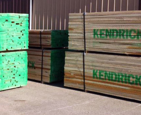 Packaged lumber waiting to ship.