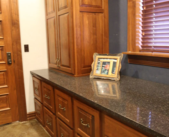 Office Showroom Office | Walnut | Fruitwood Stain