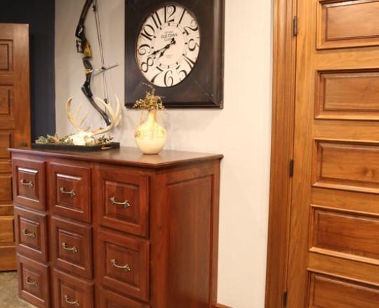 Office Showroom Office | Walnut | Mahogany Stain