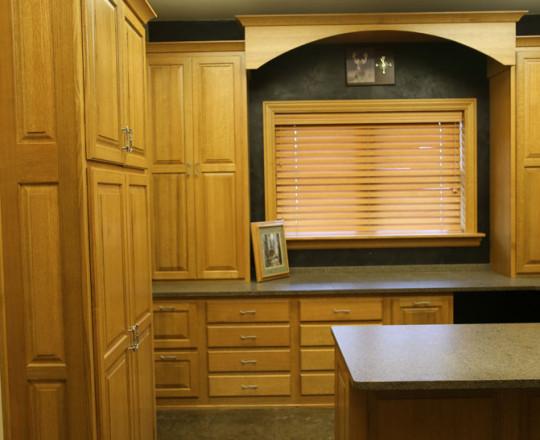 Office Showroom Office | Quarter-sawn Red Oak | Cinnamon Stain